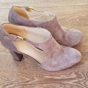 Suede and leather booties